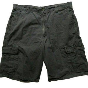 Wrangler Gray 100% Cotton Cargo Shorts Mens Casual
